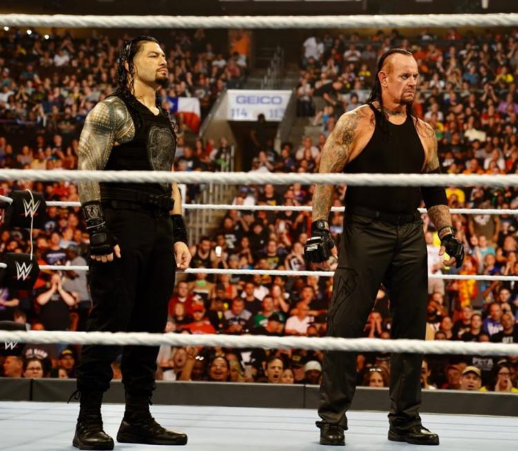Roman Reigns had teamed up with The Undertaker against Shane McMahon and Drew McIntyre at Extreme Rules 2019.