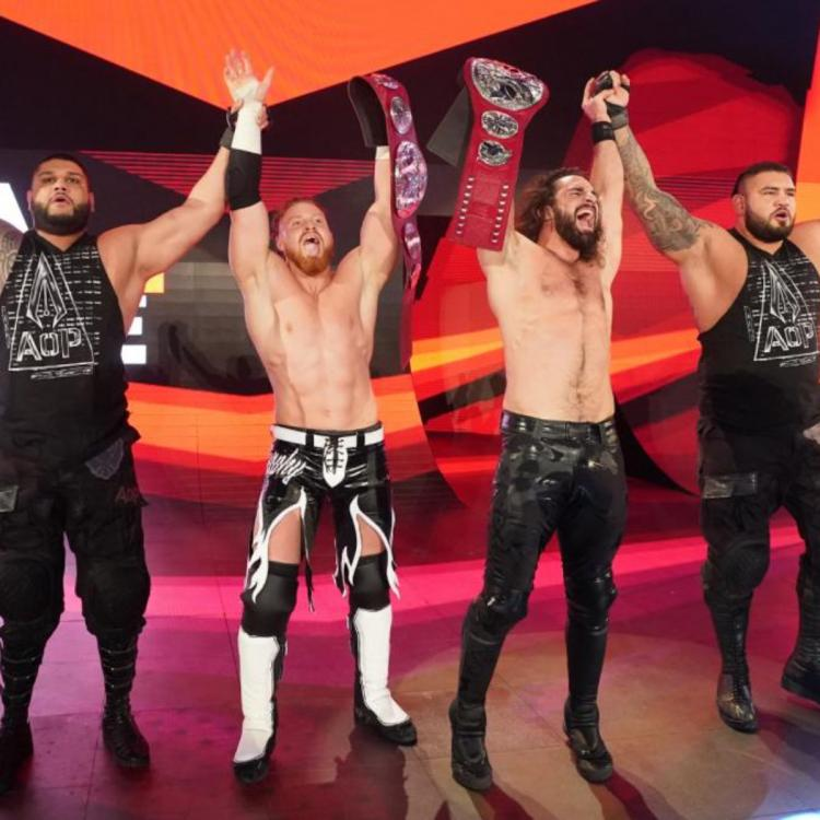 Seth Rollins & Buddy Murphy beat The Viking Raiders to become the new Raw Tag Team Champions.