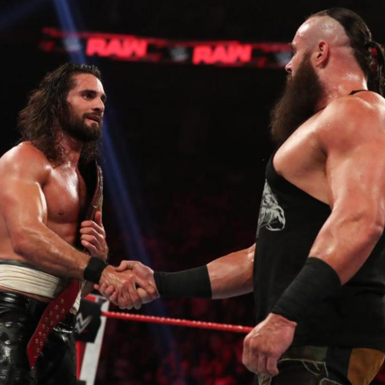Seth Rollins was attacked during his match with AJ Styles and had Braun Strowman and Ricochet come to the rescue.