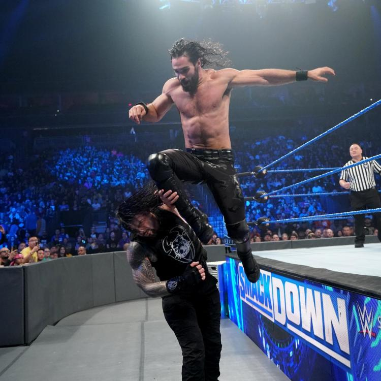 Seth Rollins defeated Roman Reigns via disqualification on SmackDown on FOX due to The Fiend's sneak attack.