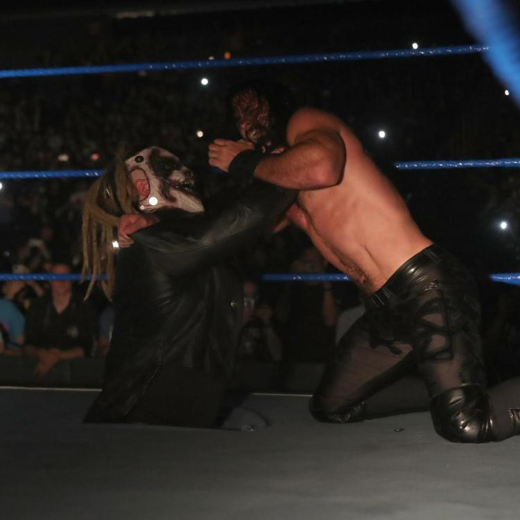 Seth Rollins and Roman Reigns' match on SmackDown on FOX ended in a disqualification, courtesy of The Fiend.