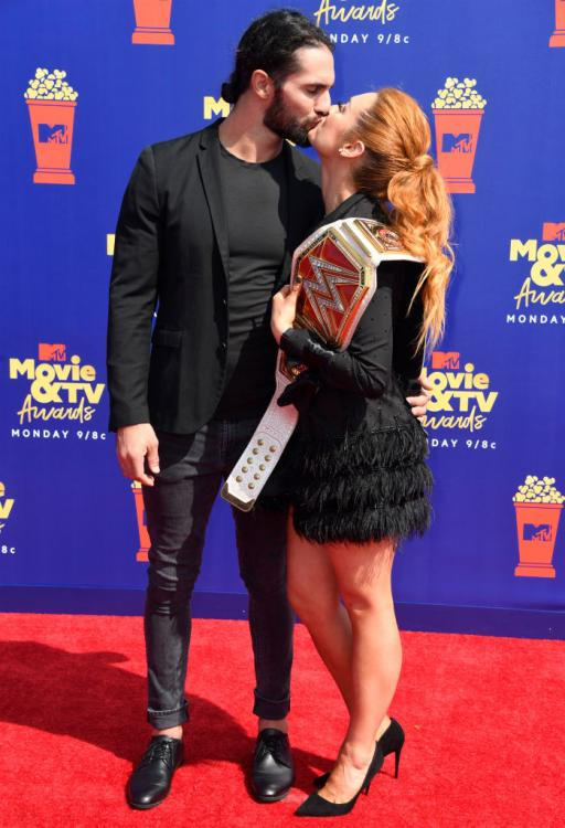 Seth Rollins revealed that Becky Lynch makes him want to be a better person.