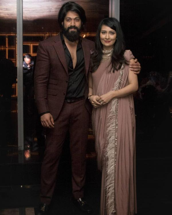 Yash and Radhika Pandit make for one royal couple in the latest photo from the KGF star's birthday party