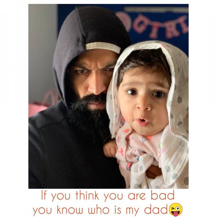 This adorable picture of father daughter duo Yash and Ayra will brighten up your day