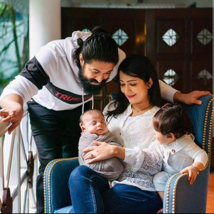 Yash, Radhika Pandit, Ayra, the little bundle of joy are all smiles and look adorable in THIS new family photo
