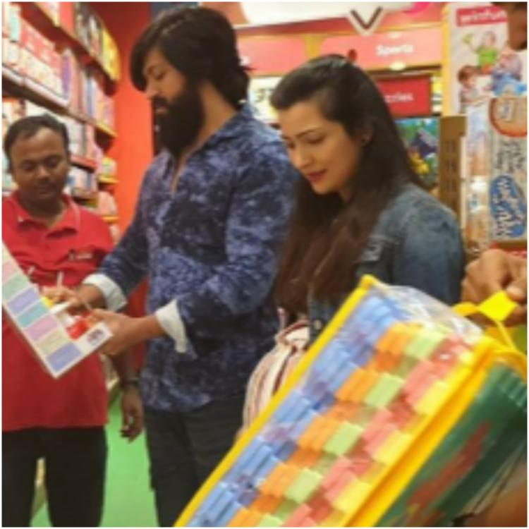KGF star Yash and Radhika Pandit go toy shopping for Ayra and its the cutest thing you'll see today; See Pics