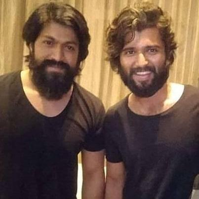 KGF star Yash and Vijay Deverakonda twin in black & their pic goes viral; Check it out