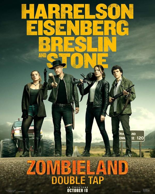 Zombieland: Double Tap is slated to release in India on October 18, 2019.