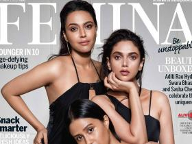 Magazine Covers,Aditi Rao Hydari,Swara Bhaskar,Femina October 2017