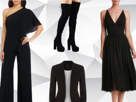 Celebrity Style,black,party season,party,party dresses