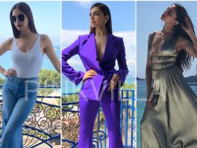 Celebrity Style,deepika padukone,alberta ferretti,cannes,Shaleena Nathani,Frame,Misho,Roger Vivier,ATM Collection,Mao