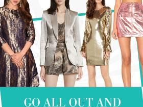 Celebrity Style,party,Metallic,metallic skirt,metallic blazer