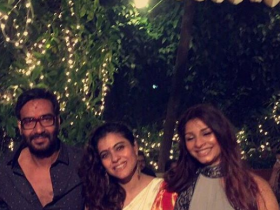 Photos,kajol,Diwali,Ajay Devgn,Nysa Devgn,Ajay Diwali bash,Ajay Devgn and Kajol,Diwali Party 2016