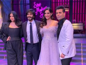 Photos,Sonam Kapoor,Rhea Kapoor,Harshvardhan kapoor,Koffee with karan
