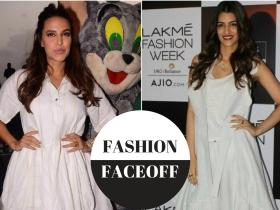 neha dhupia,Kriti Sanon,Faceoffs,Chola The Label