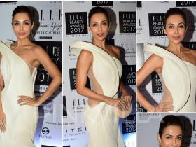 Celebrity Style,Malaika Arora Khan,Maneka Harisinghani,gaurav gupta,Elle Beauty Awards 2017