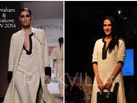 Celebrity Style,neha dhupia,lakme fashion week,Dior,Abraham and Thakore