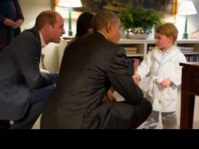Photos,US President,Michelle Obama,Prince William,Prince George,barrack obama
