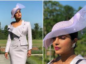 Celebrity Style,Priyanka Chopra,vivienne westwood,Philip Treacy,Britain Royal Wedding