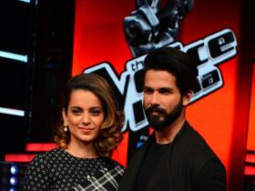Photos,Kangana Ranaut,Shahid Kapoor,saif ali khan,Rangoon,rangoon promotions,vishal bharwaj,The Voice