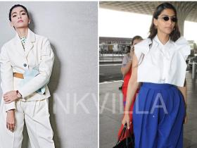 Celebrity Style,sonam kapoor,airport,Balenciaga,Delpozo,Roberi and Fraud,IWC watches