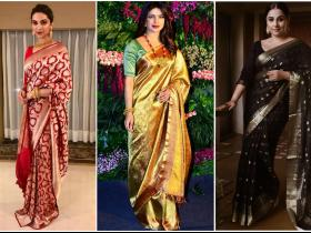 Celebrity Style,Traditional Indian saree,bollywod looks,bollywood sarees