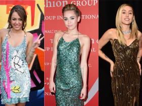 Celebrity Style,Miley Cyrus,sequins,fashion evolution