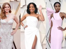 Celebrity Style,Wedding,Oscars,wedding dress,whites,pinks