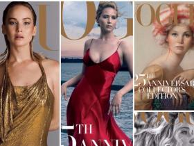Magazine Covers,vogue,Jennifer Lawrence,Vogue's 125th anniversary