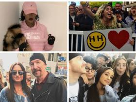 Photos,rihanna,PINK,amy schumer,Ariana Grande,Demi Lovato,Miley Cyrus,Jessica Biel,Mark Ruffalo,Women's March 2017,Alicia Keys,Drew Barrymore,James Franco,Chrissy Tiegen,Gina Rodriguez