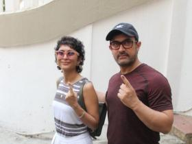 Photos,aamir khan,kiran rao,Lok Sabha Elections 2019