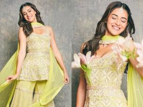 Celebrity Style,bollywood fashion,Ananya Panday,sangeet outfit