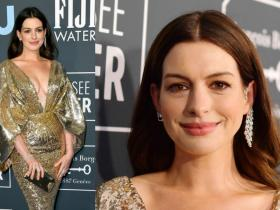 Celebrity Style,anne hathaway,anne hathaway critics choice awards,anne hathaway red carpet