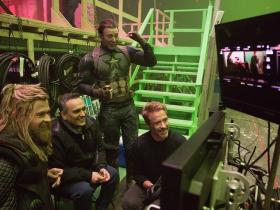 Chris Evans,Robert Downey Jr,Chris Hemsworth,Russo Brothers,Avengers: Endgame,Hollywood