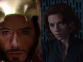 Scarlett Johansson,Robert Downey Jr,Black Widow,Avengers Endgame,Tony Stark,Hollywood