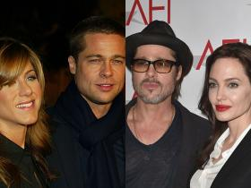 angelina jolie,Brad Pitt,jennifer aniston,Hollywood