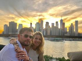 Chris Hemsworth,Elsa Pataky,Hollywood,Men in black: international