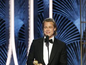 Brad Pitt,titanic,Once Upon A Time In Hollywood,Hollywood,Golden Globes 2020,77th Golden Globe Awards