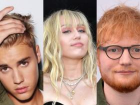 Ed Sheeran,justin bieber,Miley Cyrus,Hollywood,Hollywood news