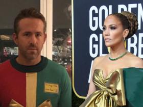 Jennifer Lopez,Ryan Reynolds,Hollywood,Golden Globes 2020