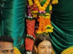 Kajal Aggarwal,South,Lalbaugh Cha Raja