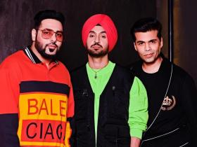 Photos,Karan Johar,Koffee with karan,badshah,Diljit Dosanjh