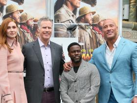 The Rock,Kevin Hart,Karen Gillan,Hollywood,Jumanji: The Next Level,will ferrell,Eniko Parrish