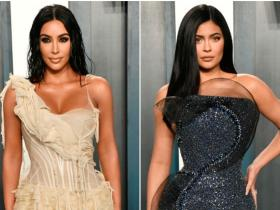 Celebrity Style,kim kardashian,Kylie Jenner,vanity fair oscar party