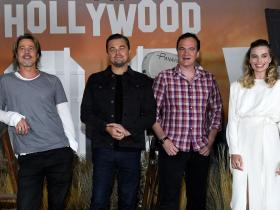 Leonardo DiCaprio,Brad Pitt,titanic,Once Upon A Time In Hollywood,margot robbie,Hollywood