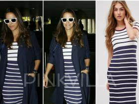 Celebrity Style,neha dhupia,gucci,Céline,airport style,TopShop,Tommy Hilfiger