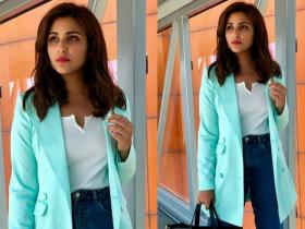 Celebrity Style,parineeti chopra,airport,saina
