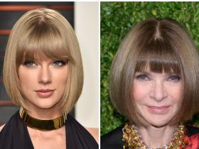 Celebrity Style,taylor Swift,anna wintour,taylor swift hairstyle