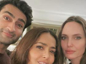 angelina jolie,Salma Hayek,kumail nanjiani,Hollywood,The Eternals