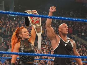 Dwayne Johnson,The Rock,WWE,Becky Lynch,Baron Corbin,Hollywood,SmackDown on FOX